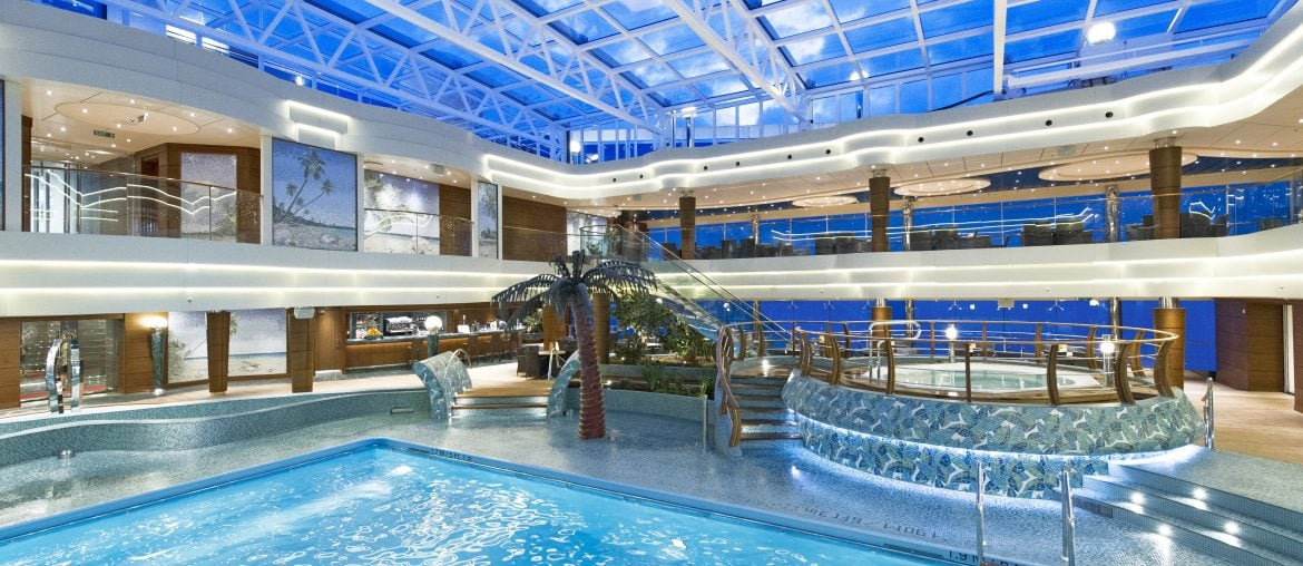 Covered pool on MSC Preziosa