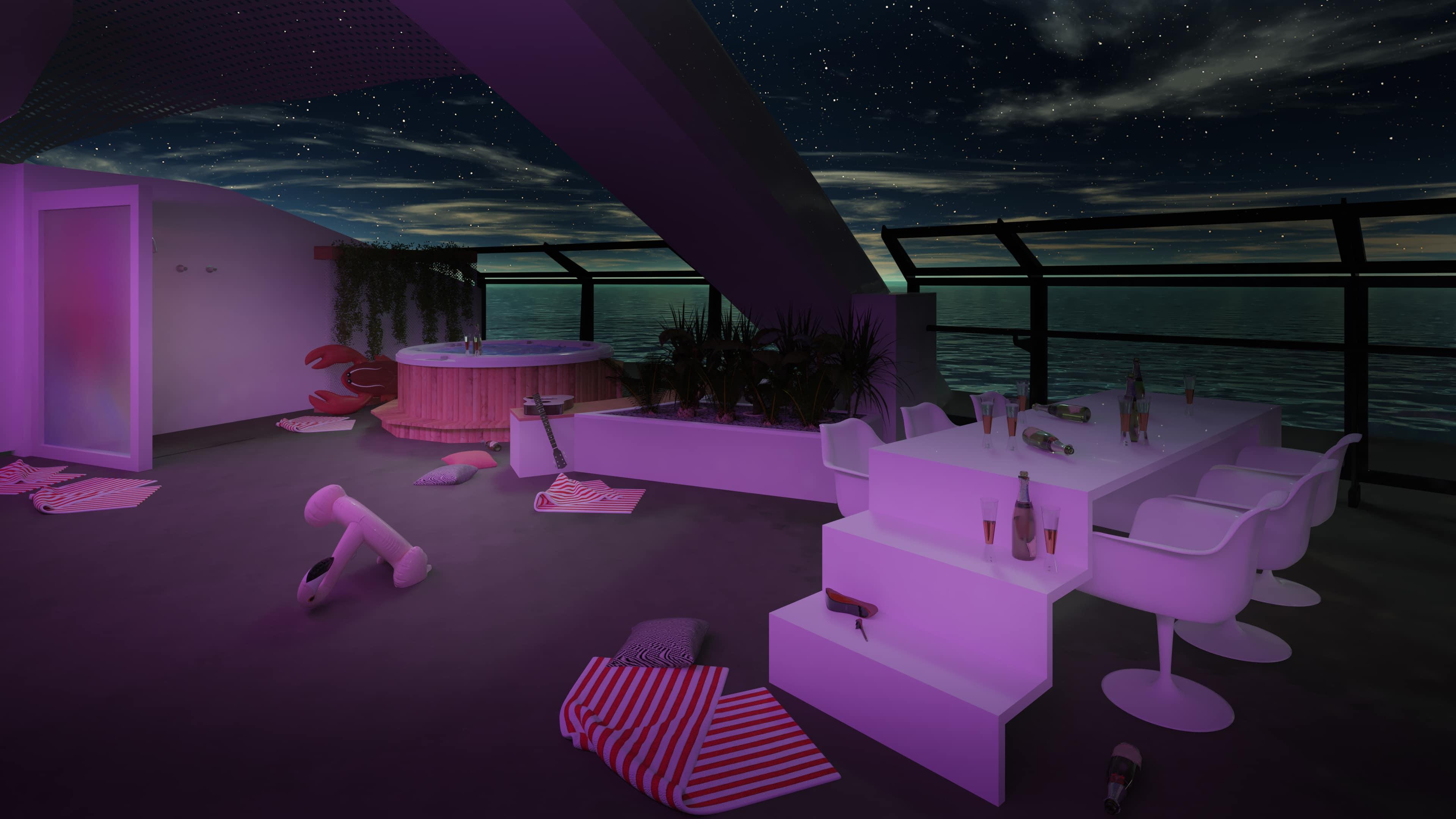 Virgin Voyages Scarlet Lady Massive Suite Terrace