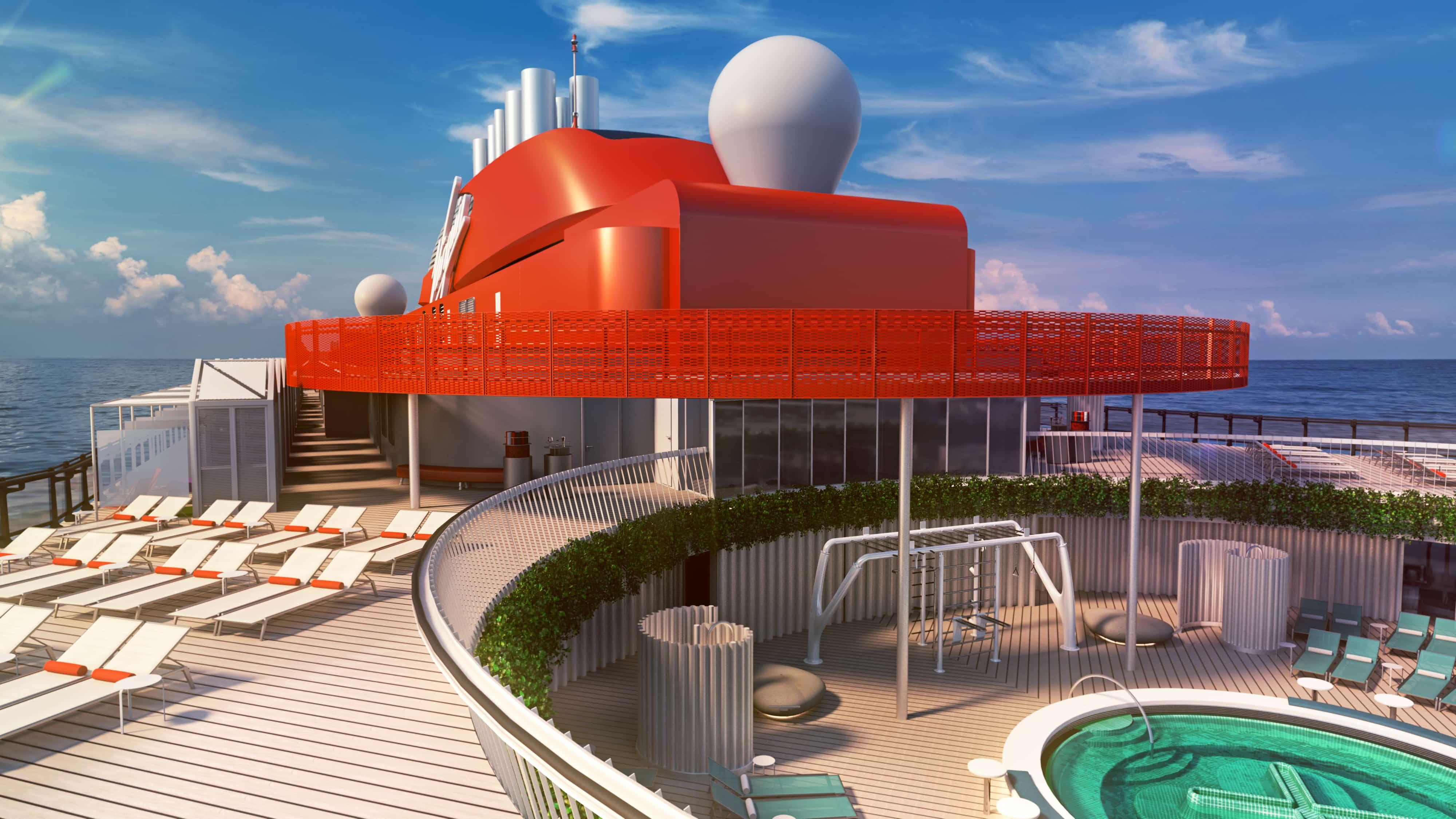 Virgin Voyages Scarlet Lady Pool Deck