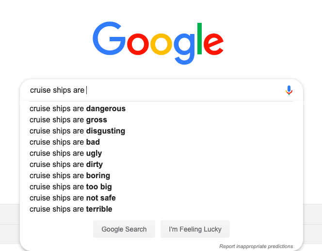 Most google cruise questions