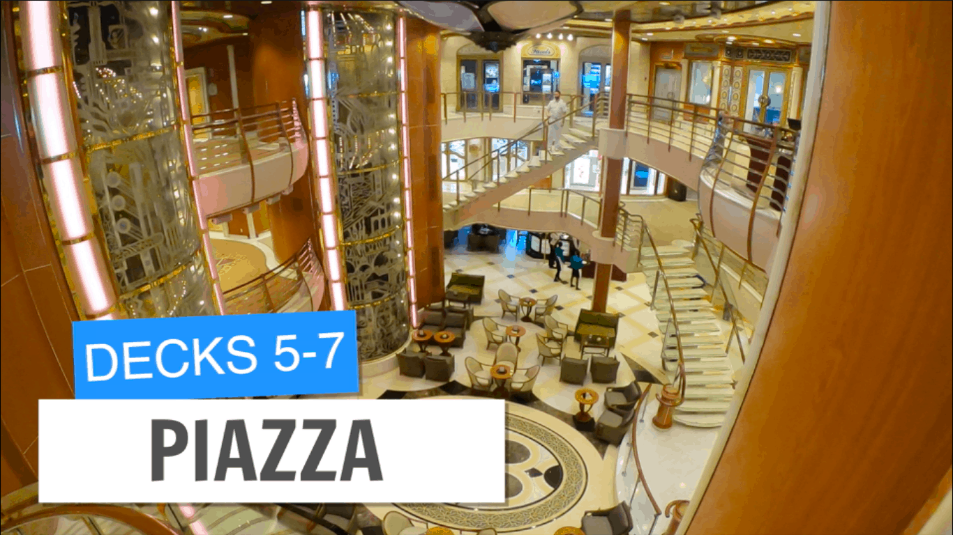 Sapphire Princess Piazza Deck 5 6 7 Post Refurbishment