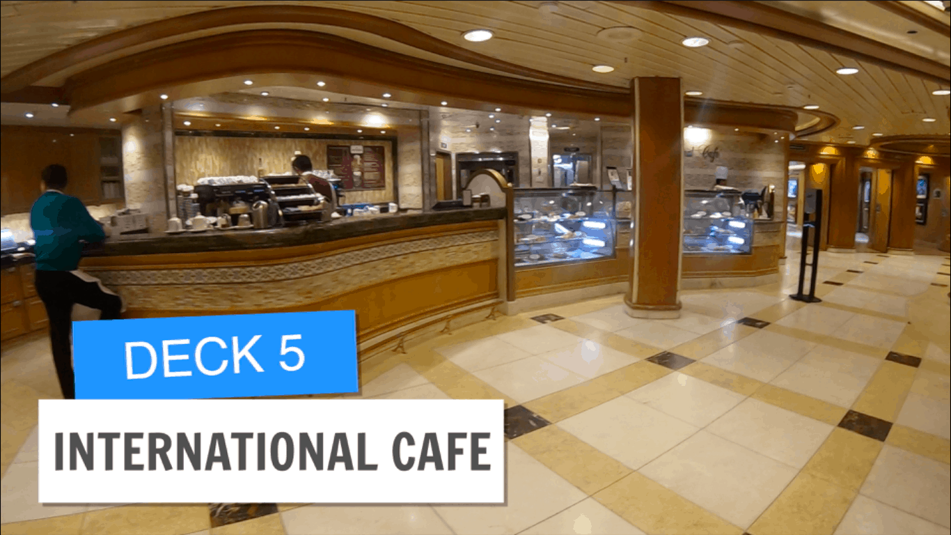 Sapphire Princess International Cafe Deck 5 Post Refurbishment
