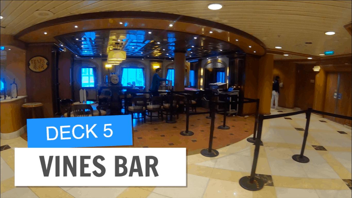 Sapphire Princess Vines Bar Deck 5 Post Refurbihsment