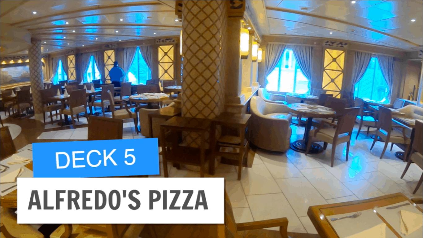 Sapphire Princess Alfredos Pizza Deck 5 Post Refurbishment