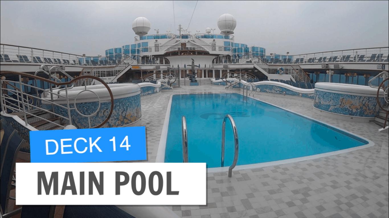 Sapphire Princess Main Pool Deck 14 Post Refurbishment