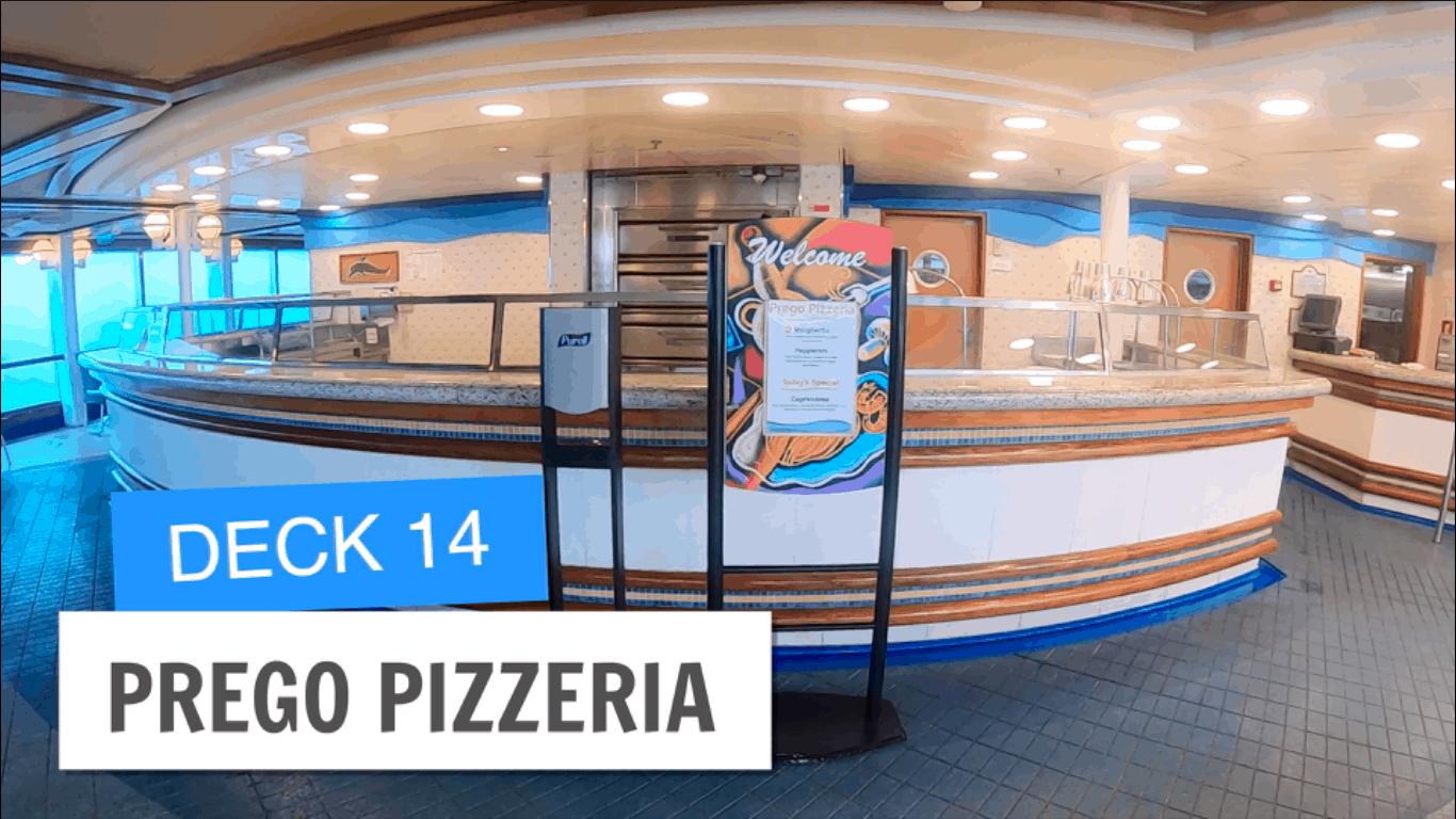 Sapphire Princess Prego Pizzeria Deck 14 Post Refurbishment