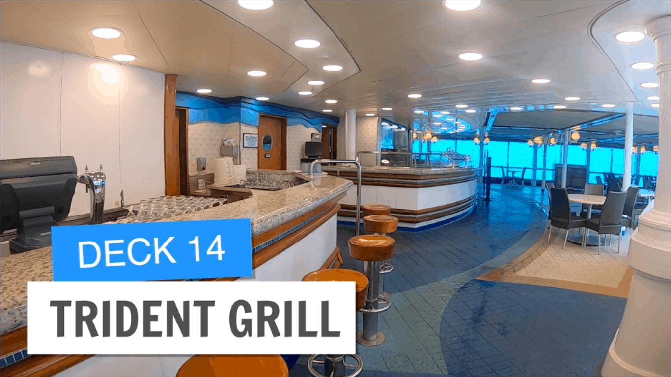 Sapphire Princess Trident Grill Deck 14 Post Refurbishment