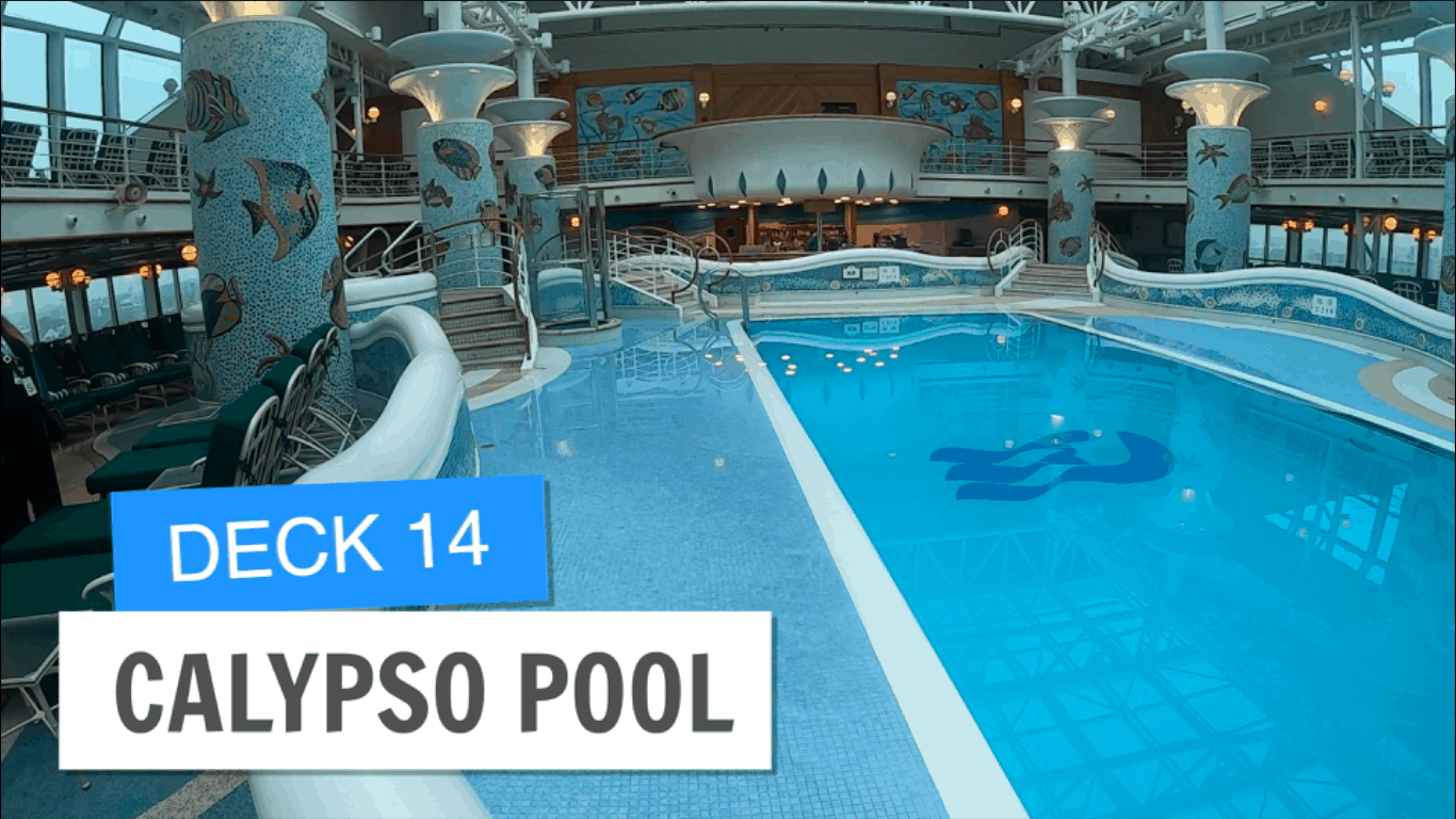 Sapphire Princess Calypso Pool Deck 14 Post Refurbishment