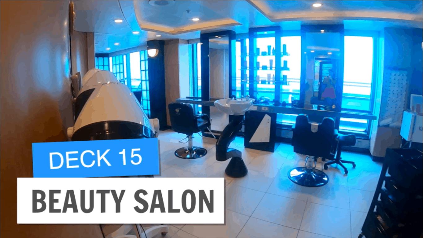 Sapphire Princess Beauty Salon Deck 15 Post Refurbishment