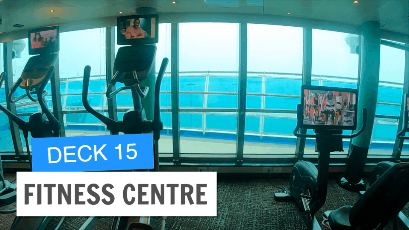 Sapphire Princess Fitness Centre Deck 15 Post Refurbishment
