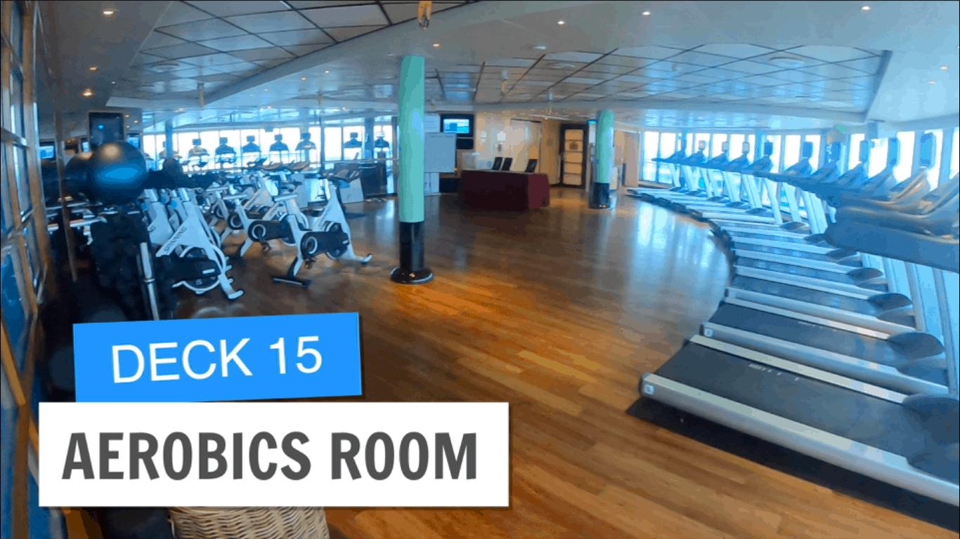 Sapphire Princess Aerobics Room Deck 15 Post Refurbishment