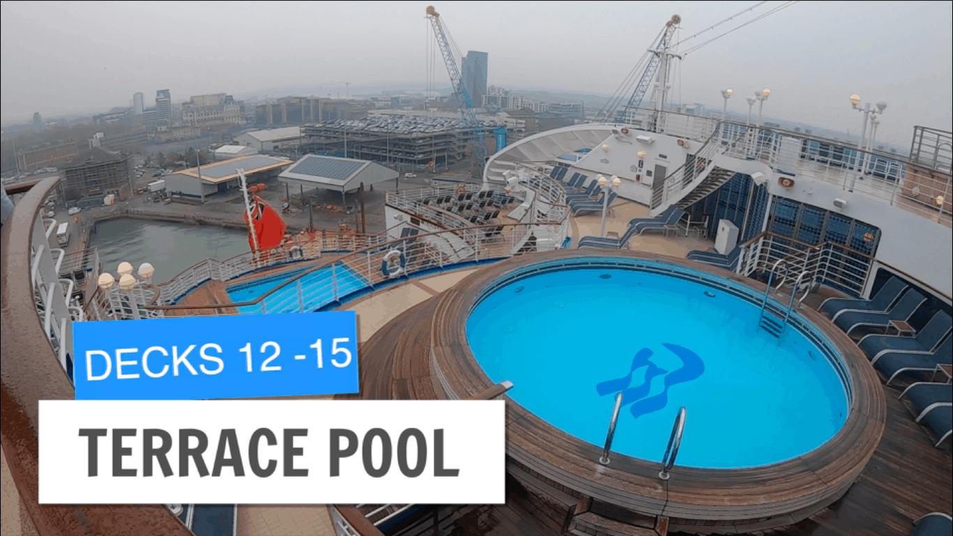 Sapphire Princess Terrace Pool Deck 12 13 Post Refurbishment