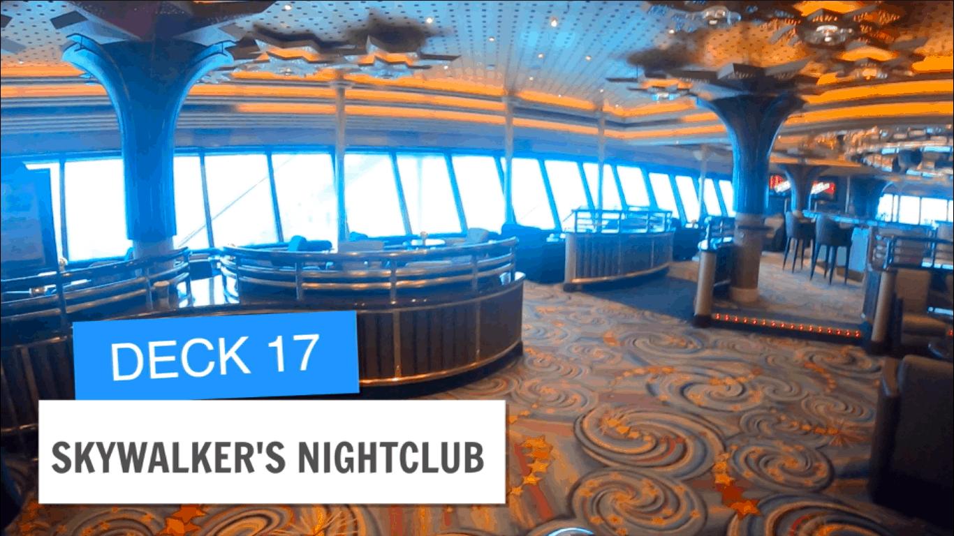Sapphire Princess Skywalkers Nightclub Deck 17 Post Refurbishment