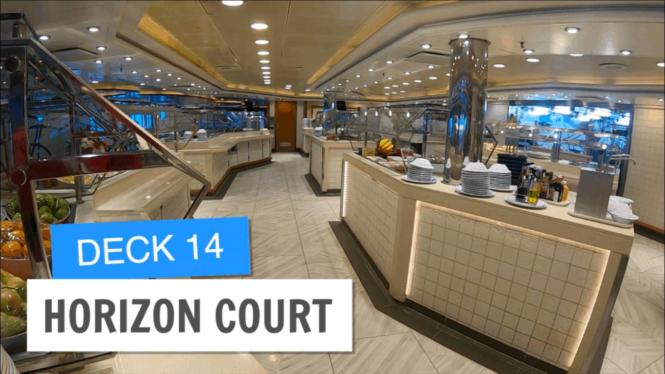 Sapphire Princess Horizon Court Deck 14 Post Refurbisment