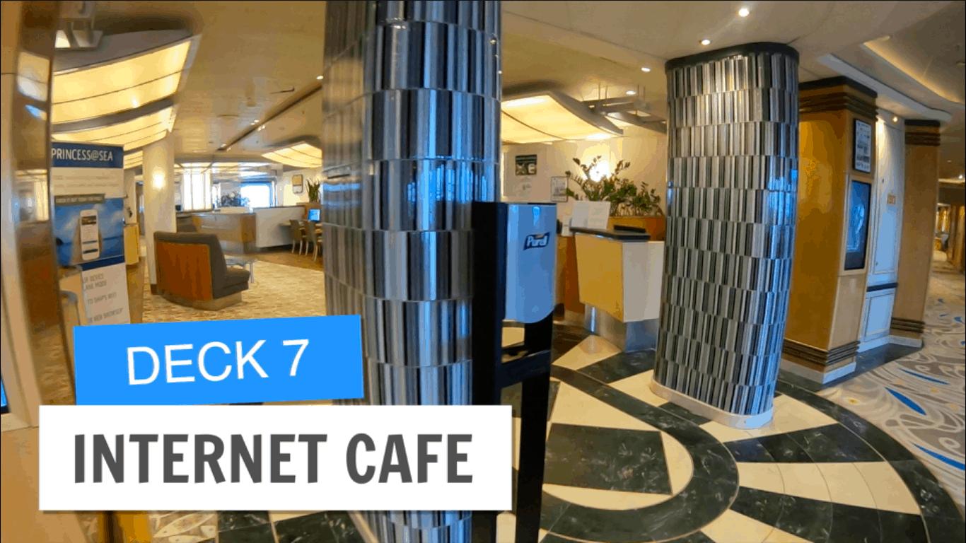 Saphire Princess Internet Cafe Deck 7 Post Refurbishment