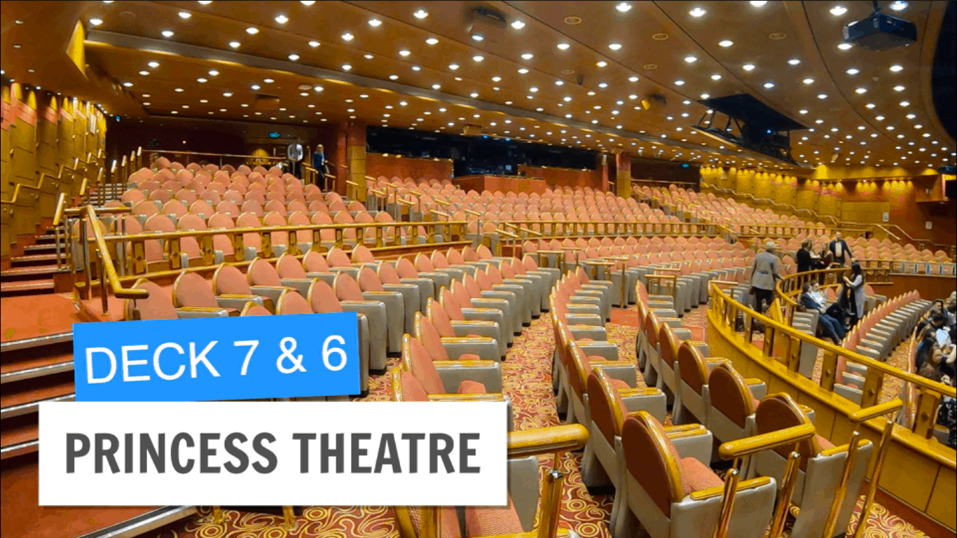 Sapphire Princess Princess Theatre Theater Post Refurbishment