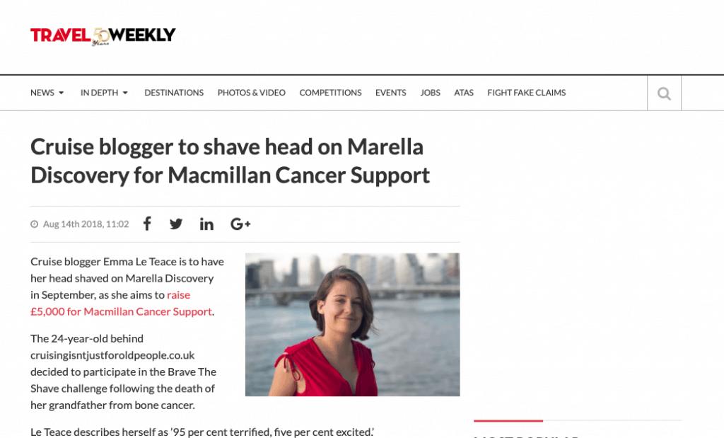 Emma Le Teace Brave the Shave