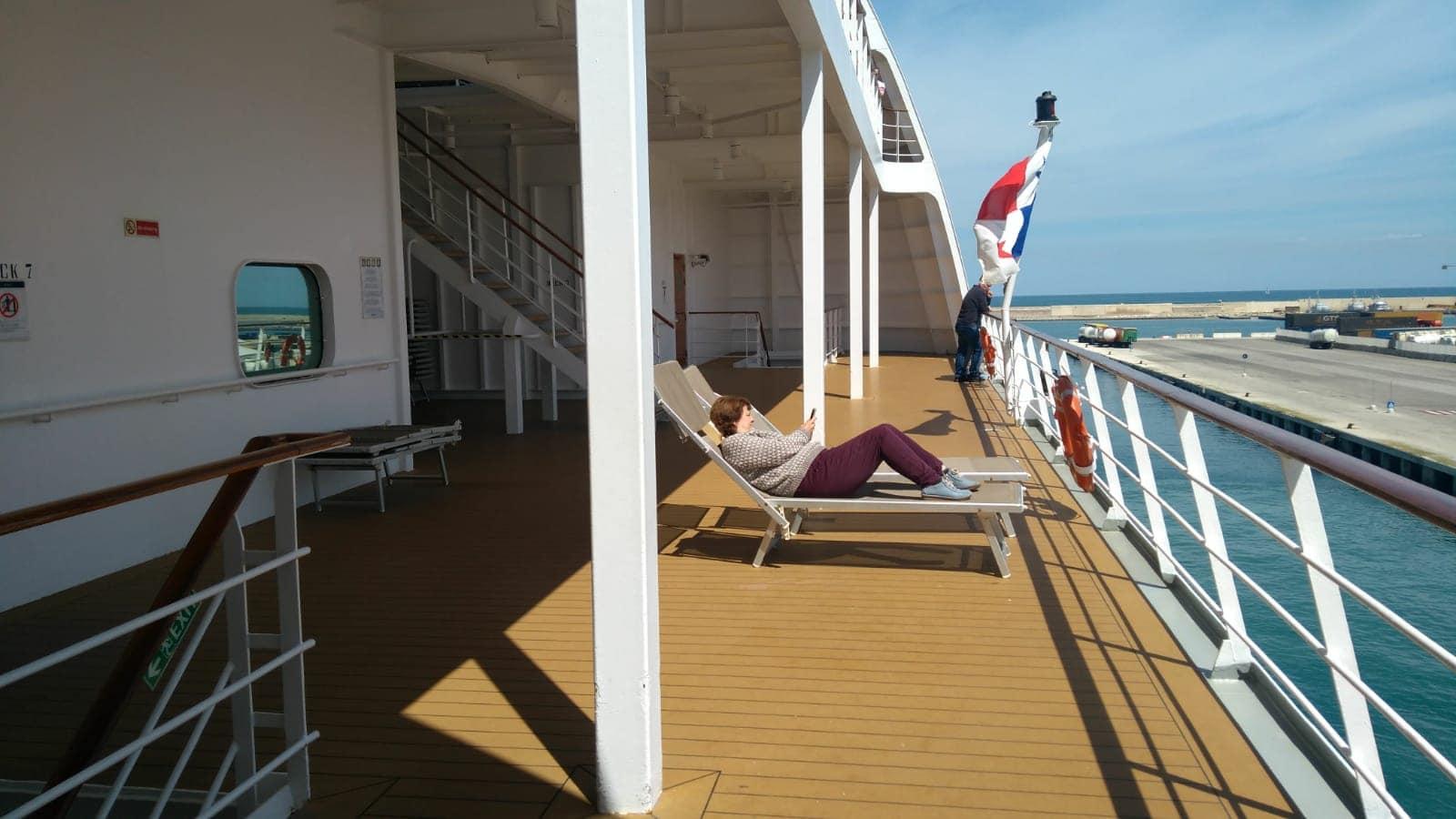 MSC Lirica Cruise Ship Promenade