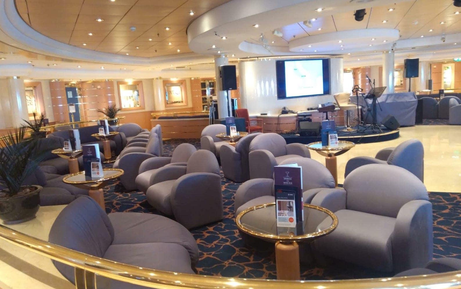 MSC Lirica Cruise Ship Lounge Bar