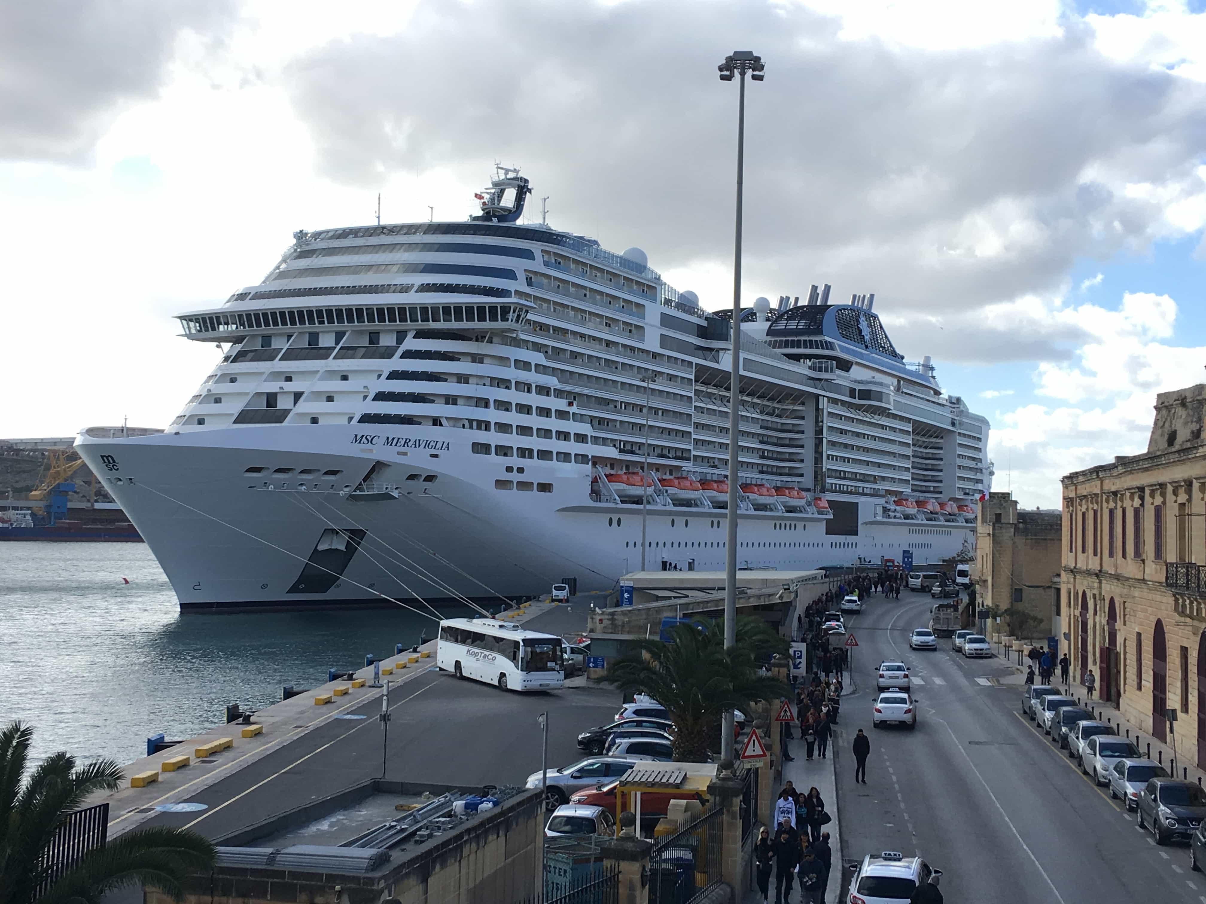 MSC Meraviglia in Valletta Malta