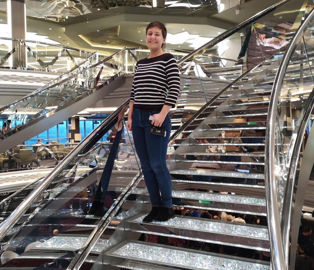 msc meraviglia staircase