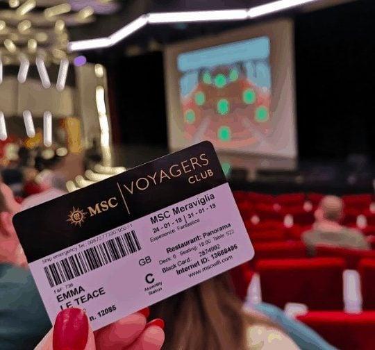 MSC Status Match Black Card in Theatre
