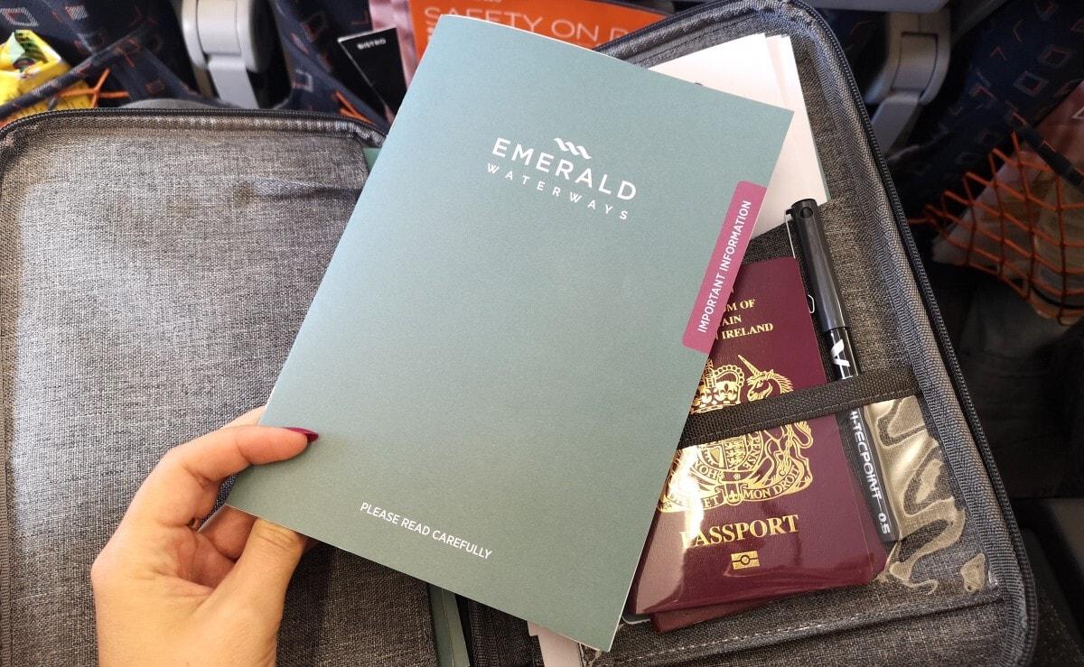 Emerald Waterways Booklet, Passport and Document Holder