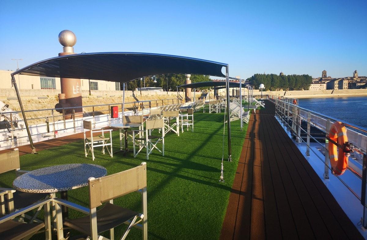 Top deck of the Emerald Liberte river cruise ship
