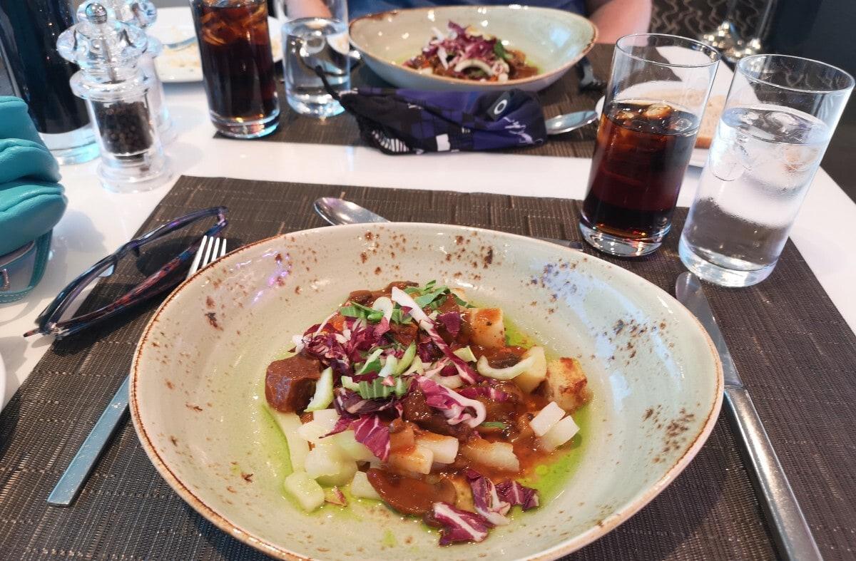 Emerald Waterways Main Dining Room Lunch beef pot roast
