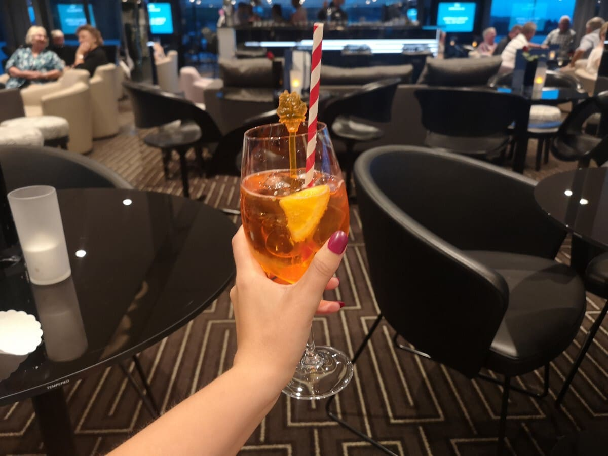 Emerald Waterways Drinks Aperol Spitz Lounge