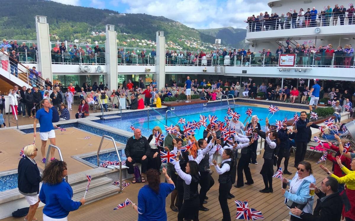 P&O Cruises Sail Away Party Top Deck