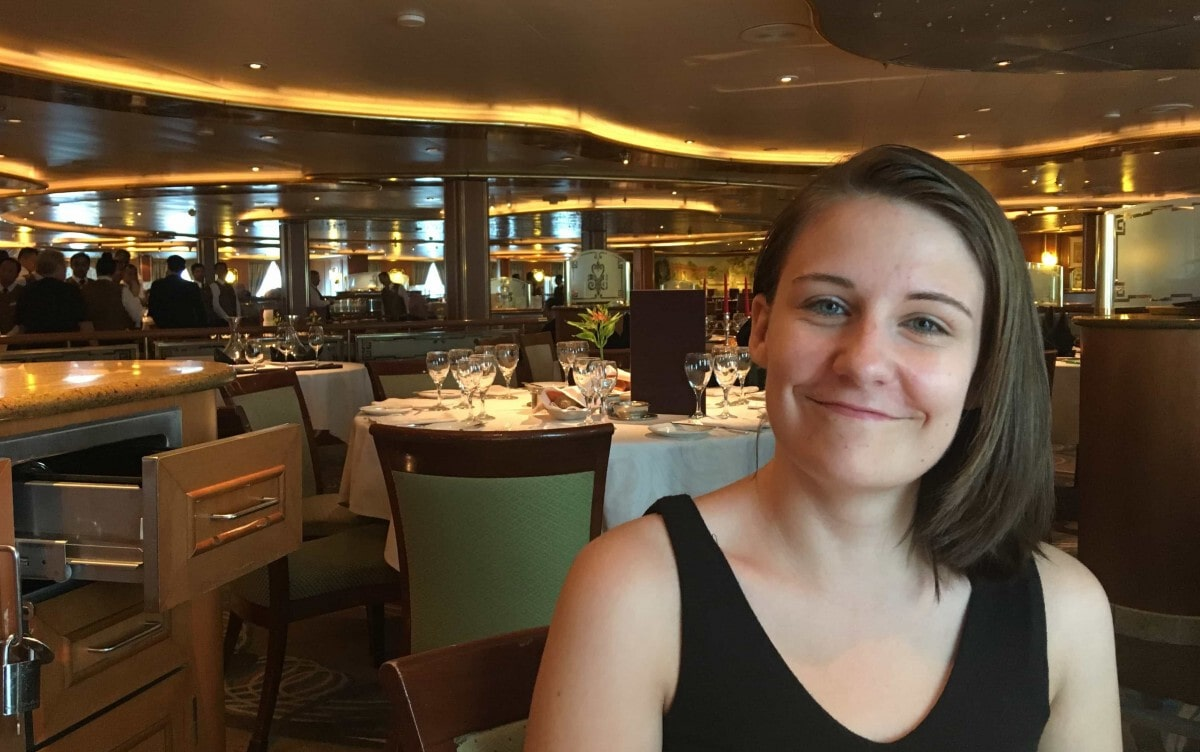 dining embarkation day lunch golden princess main dining room