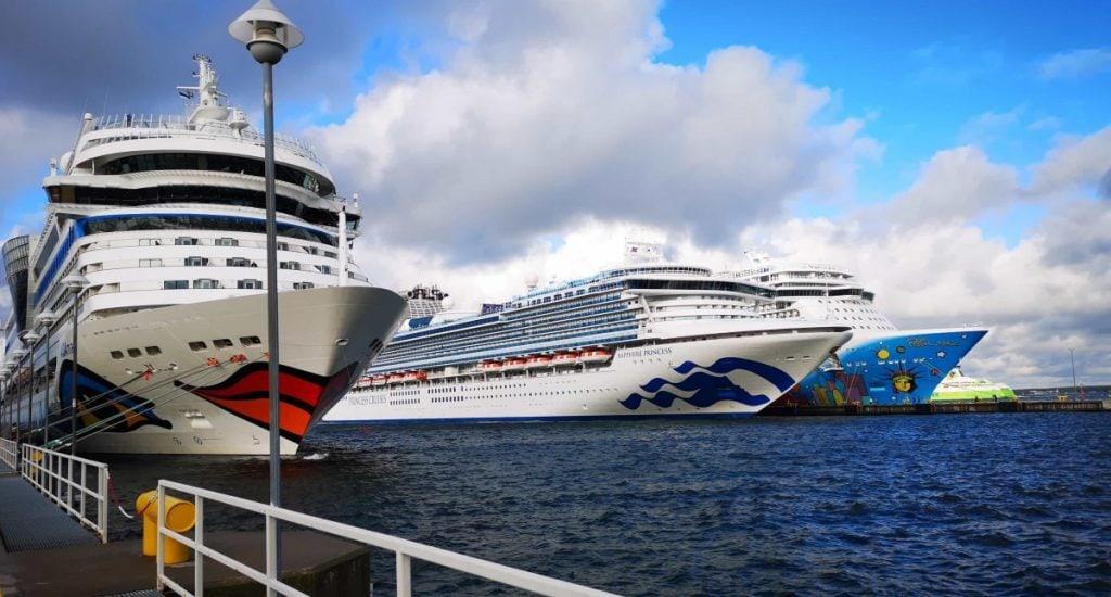 Cruise Ships in Tallin Aida Princess and Norwegian