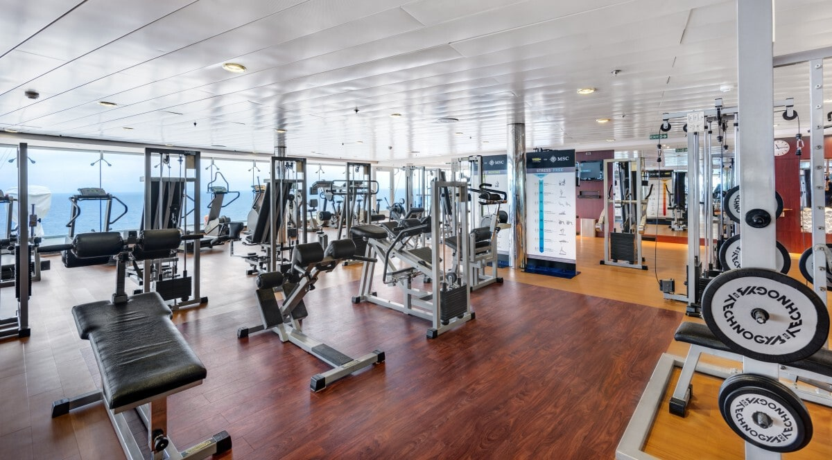 MSC Cruise Ship Free Weights