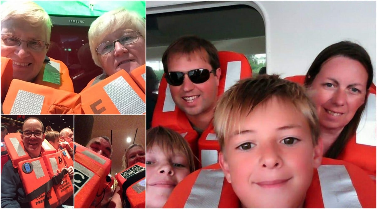 Family Selfie Life Jackets Muster Station