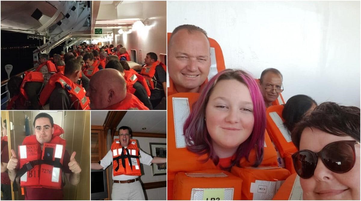 Muster Drill Lifejacket Selfies