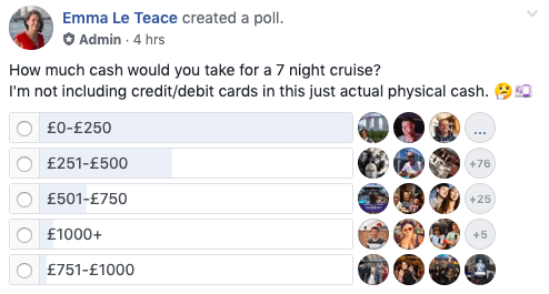 How much money to spend on a cruise?