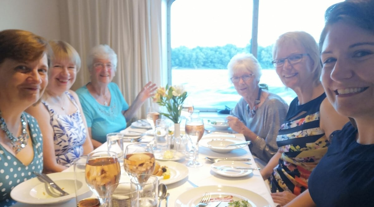 Saga River Cruise Table Sharing at Dinner