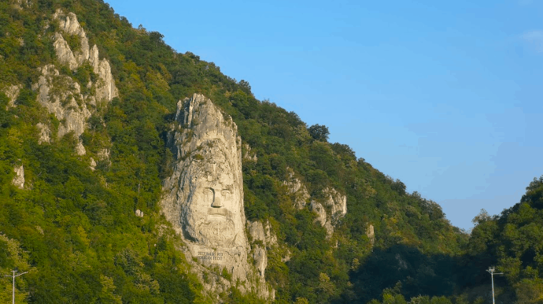Decebalus iron gates gorge