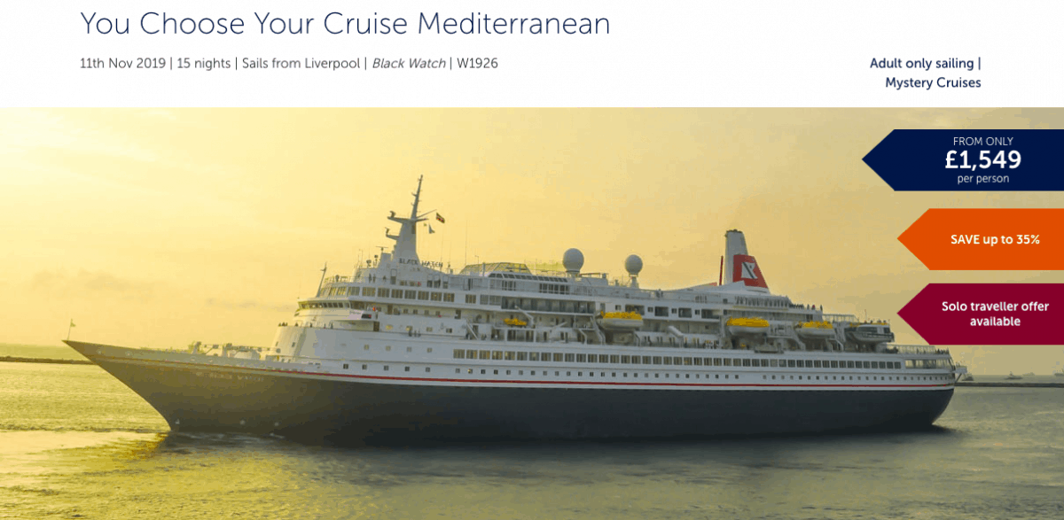 Fred Olsen Mystery Cruise