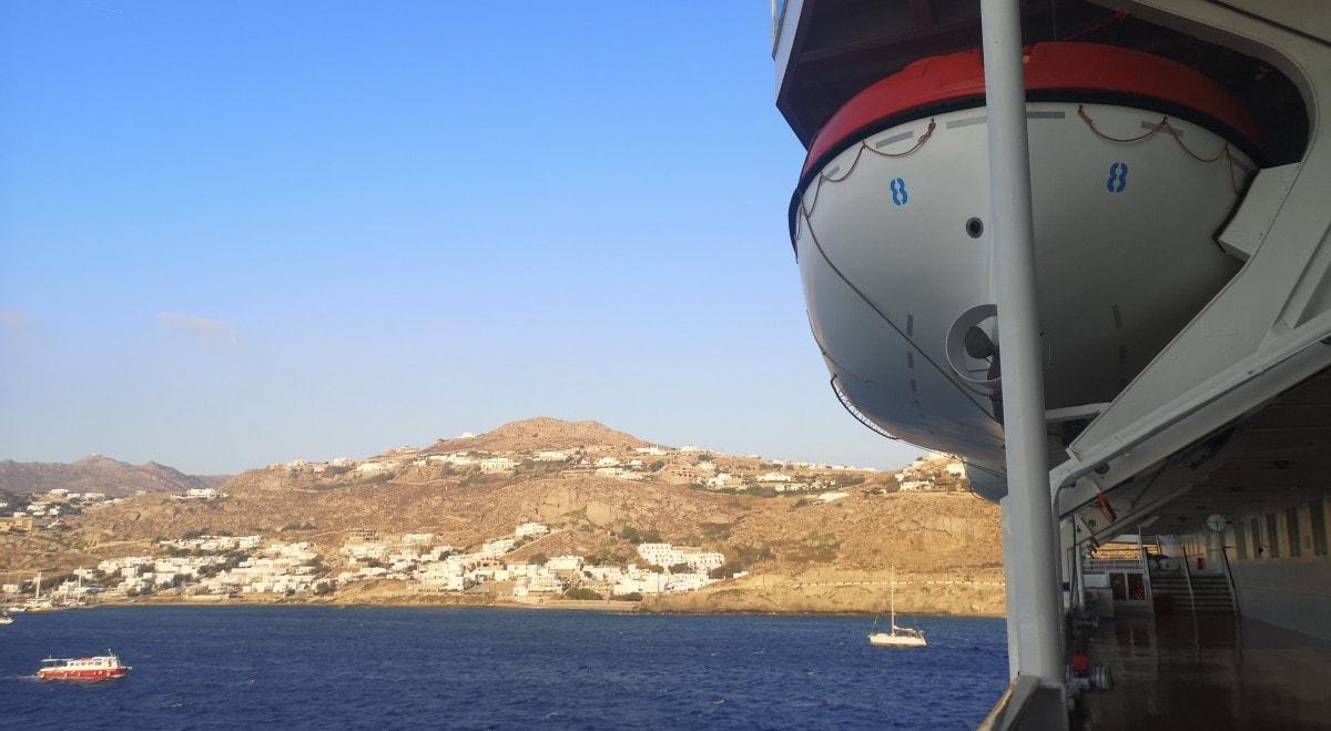 Celestyal Olympia Cruises Tender Life Boat Mykonos