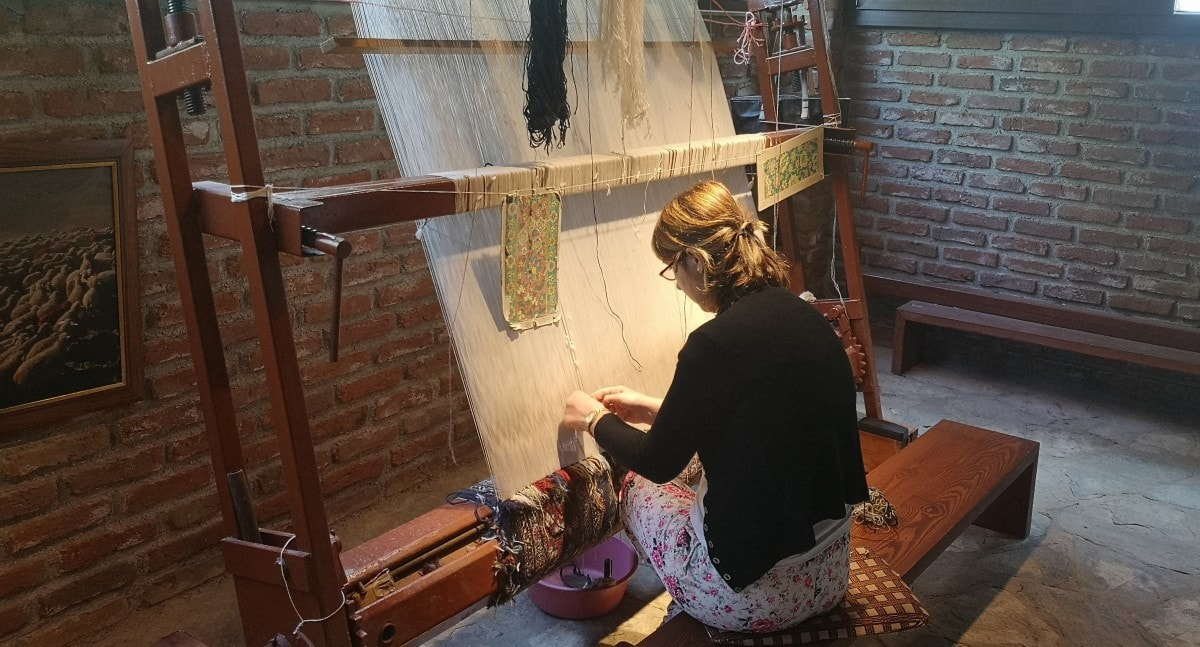 Celestyal Olympia Cruises Ephesus Kusadasi Rug Factory Making