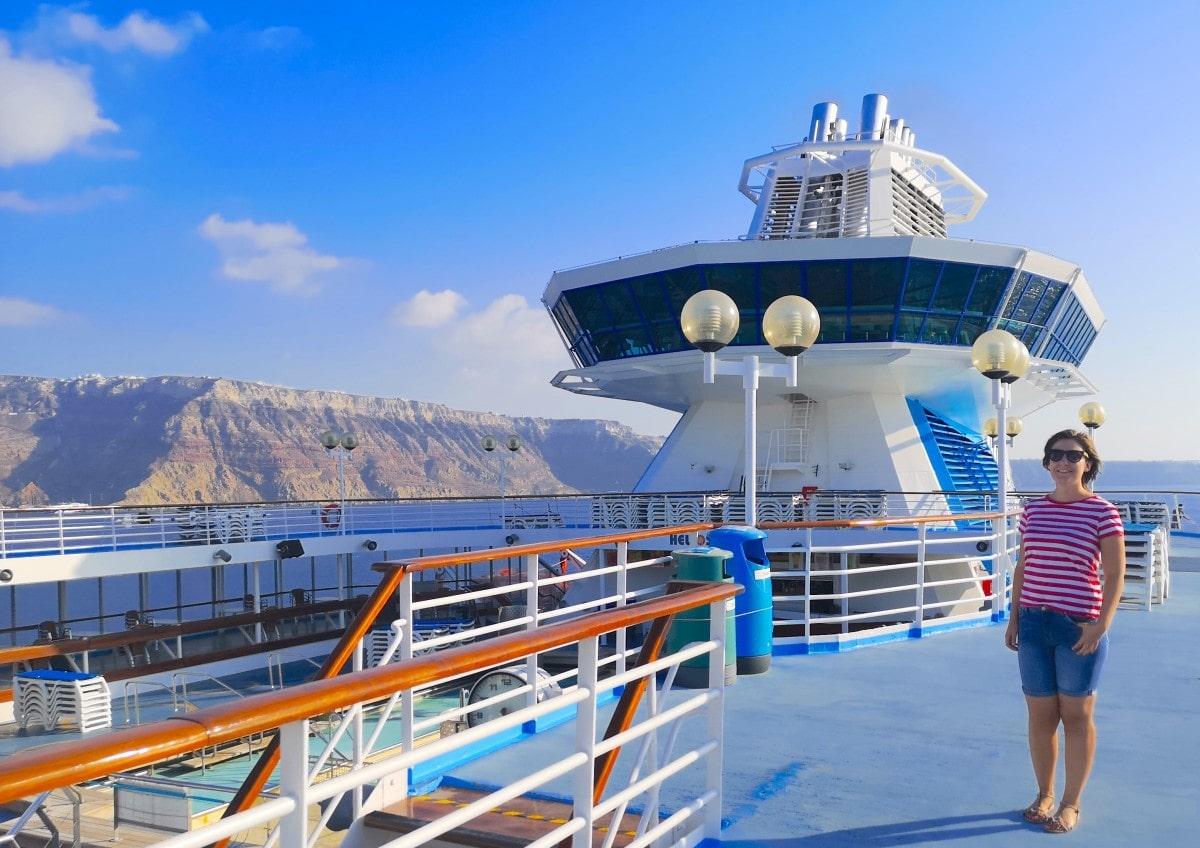 Celestyal Cruises Olympia Top Deck Santorini Tender