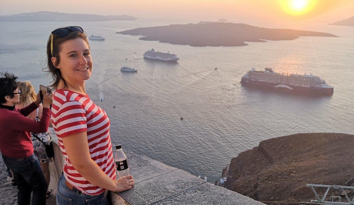 Celestyal Cruises Olympia Sunset Santorini