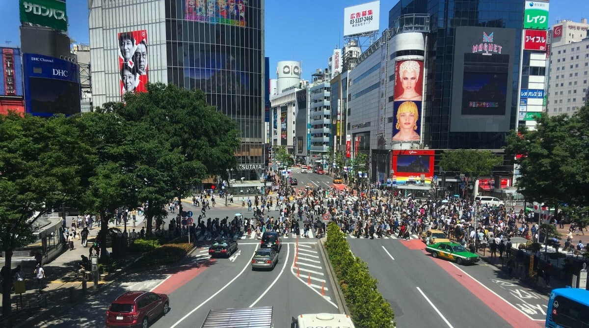 shibuya crossing japan tokyo asia cruise