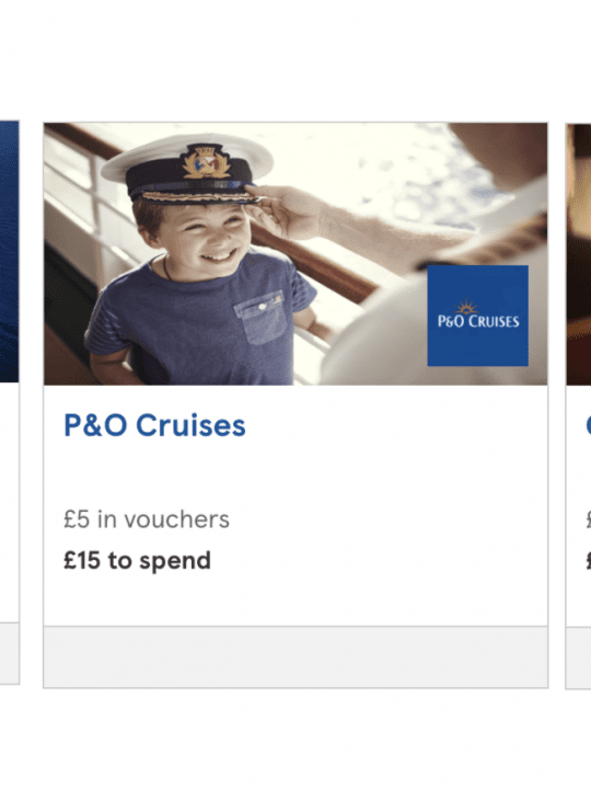 clubcard points for a cruise