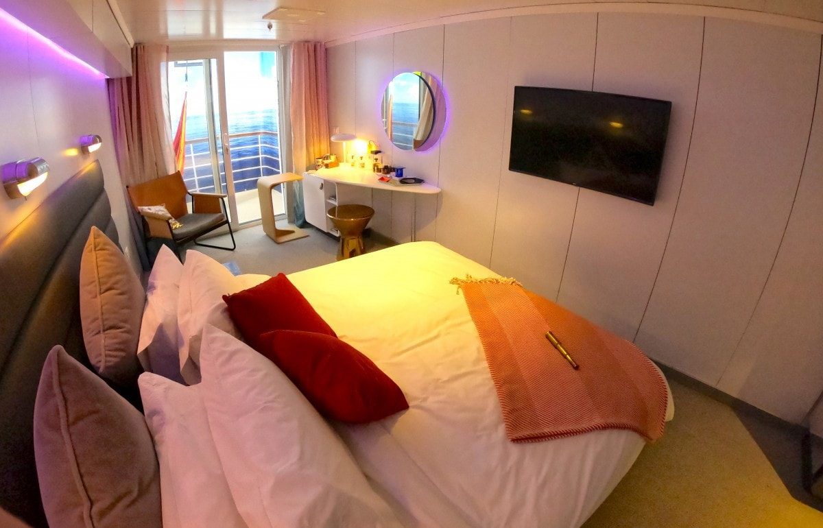 Virgin Voyages Scarlet Lady Balcony Cabin Sea Bed