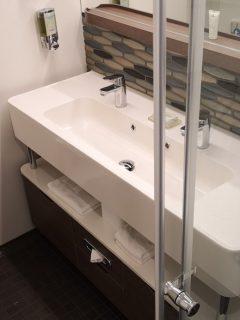 Norwegian Encore Mini Suite Bathroom Double Sinks Shower