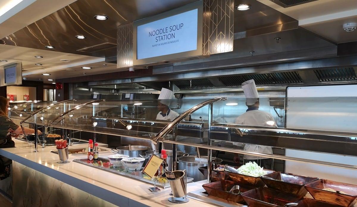 Norwegian Encore Buffet Noodle Station