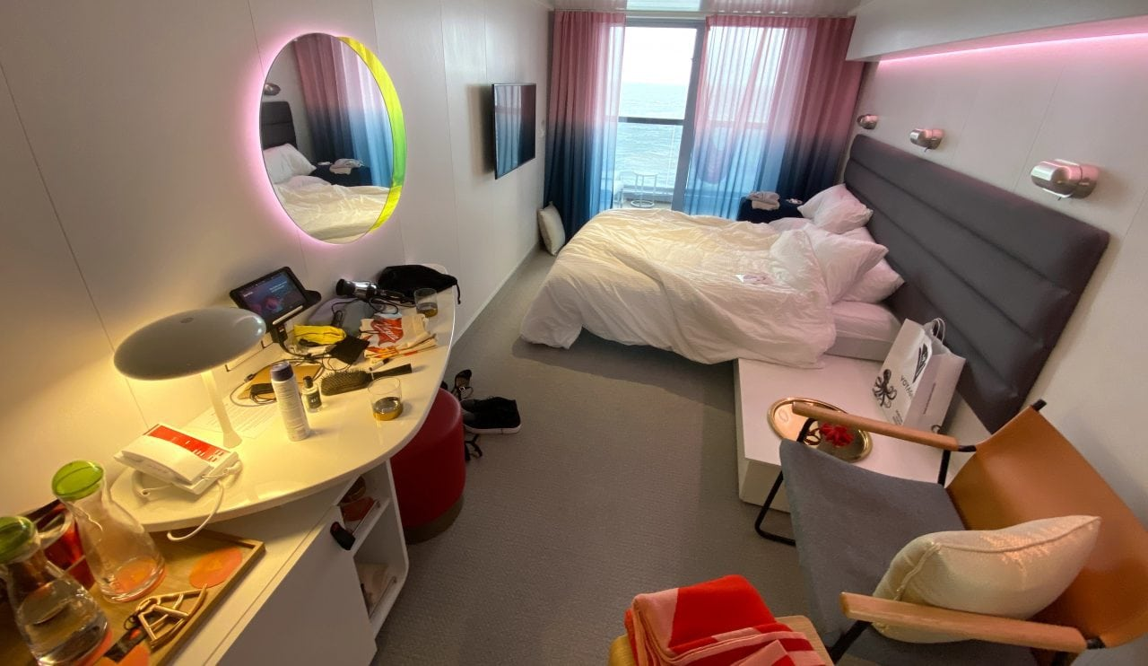 virgin voyages bed review cabin